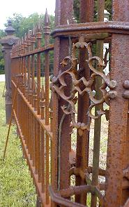 Detail of Iron Fencing surrounding Cummings Plot in Fulton Cemetery