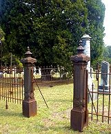Entrance to Cummings Family Plot, Fulton Cemetery