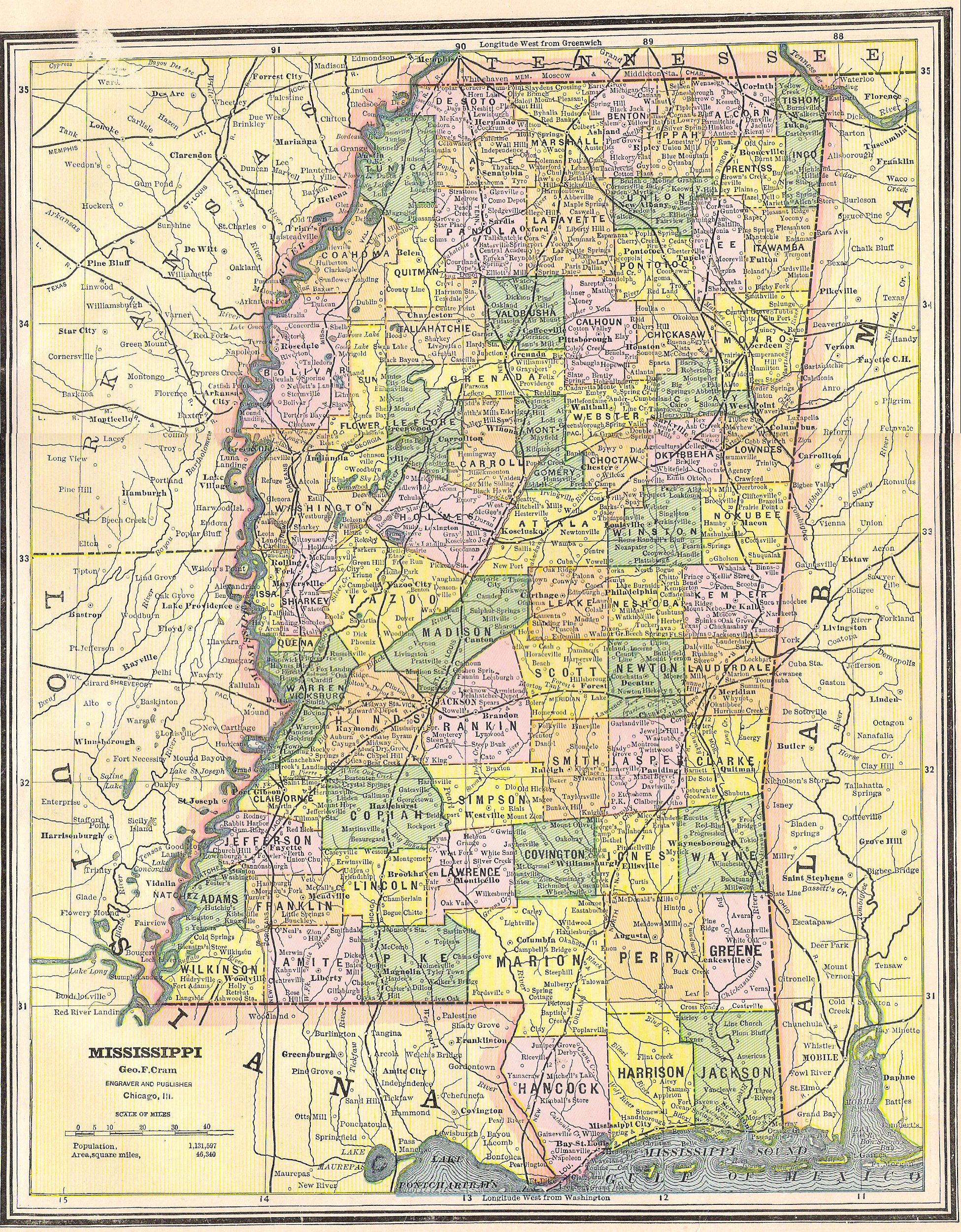 The Itawamba Historical Society Digital Archives - Counties in ms map